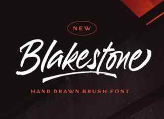 Blakestone Brush Font