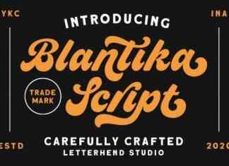 Blantika Script Font