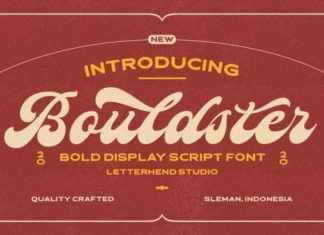 Bouldster Bold Script Font