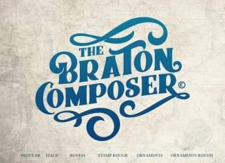 Braton Composer Bold Serif Font