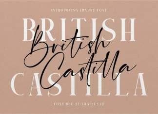British Castilla Script Font
