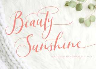 Beauty Sunshine Calligraphy Font