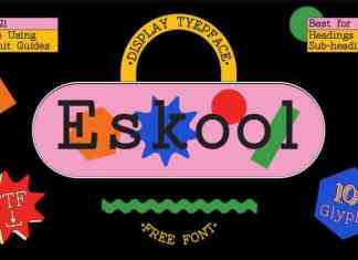 Eskool Slab Serif Font