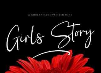 Girl Story Signature Script Font