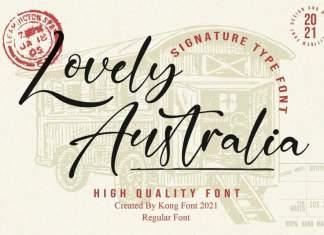 Lovely Australia Script Font