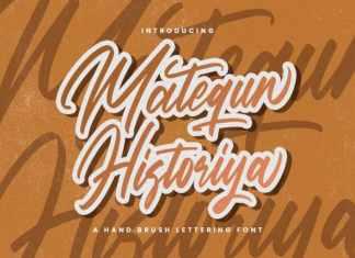 Matequn Historiya Script Font