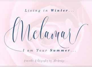 Melamar Calligraphy Font
