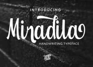 Miradila Script Font