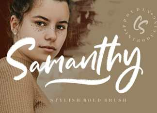 Samanthy Stylish Brush Font