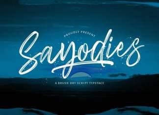 Sayodies Brush Font
