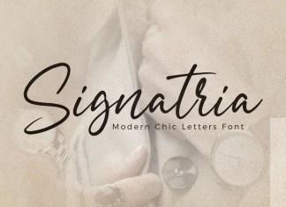 Signatria Script Font