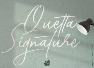 Quetta Signature Script Font