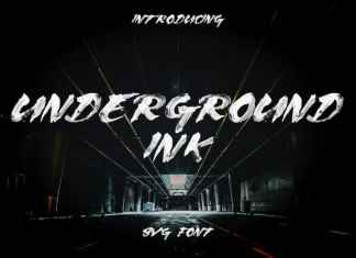 Underground Brush Font
