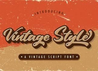 Vintage Style Script Font