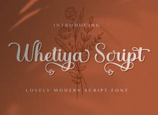 Whetiya Calligraphy Font