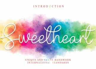 Sweetheart Handwritten Font