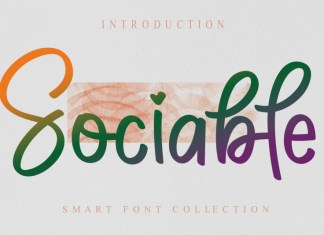 Sociable Brush Font
