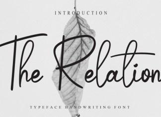 The Relation Script Font