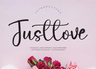 Justlove Script Font