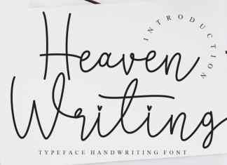 Heaven Writing Handwritten Font