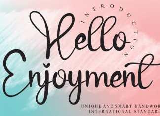 Hello Enjoyment Calligraphy Font