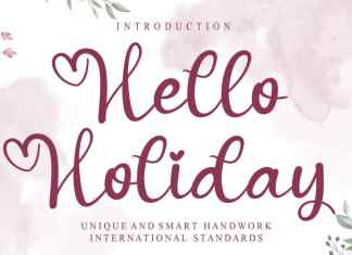 Hello Holiday Calligraphy Font