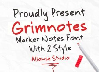 Grimnotes Display Font