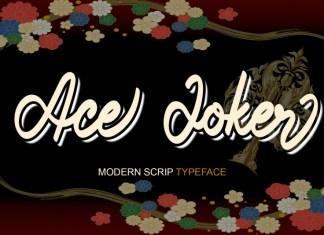Ace Joker Script Font