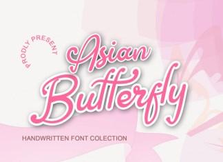 Asian Butterfly Script Font