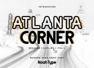 Atlanta Corner Sans Serif Font