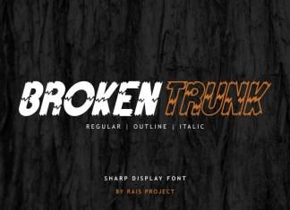 Broken Trunk Display Font