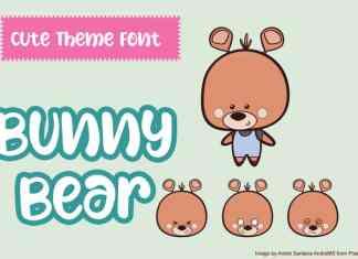 Bunny Bear Display Font