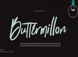 Buttermillon Script Font
