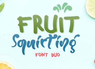 Fruit Squirting Display Font