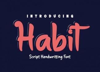 Habit Display Font
