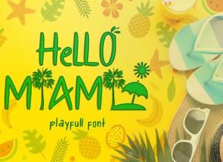 Hello Miami Display Font