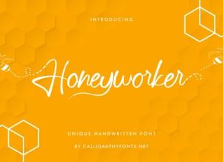 Honeyworker Handwriting Font