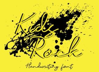 Kids Rock Handwritten Font