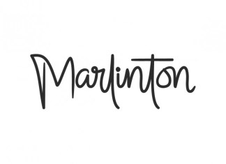 Marlinton handwriting font