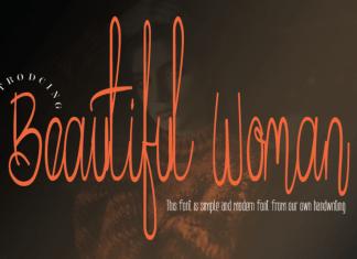 Beautiful Woman Handwritten Font