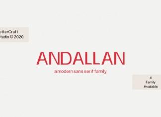 Andallan Sans Serif Font