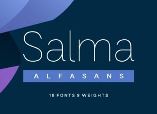Salma Alfasans Sans Serif Font