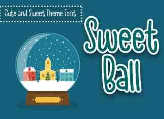 Sweet Ball Display Font