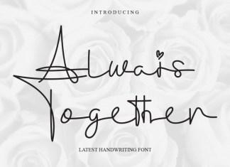 Always Together Handwritten Font