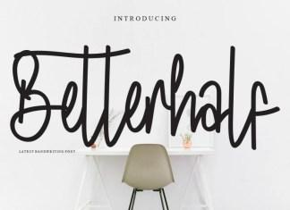 Betterhalf Handwritten Font