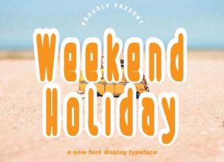 Weekend Holiday Display Font