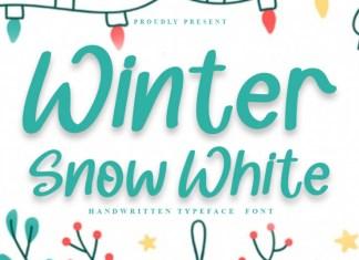 Winter Snow White Display Font