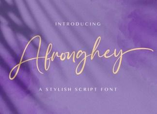 Afronghey Script Font
