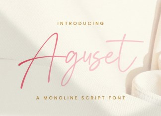 Aguset Script Font
