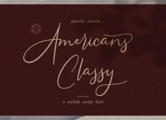 Americans Classy Script Font